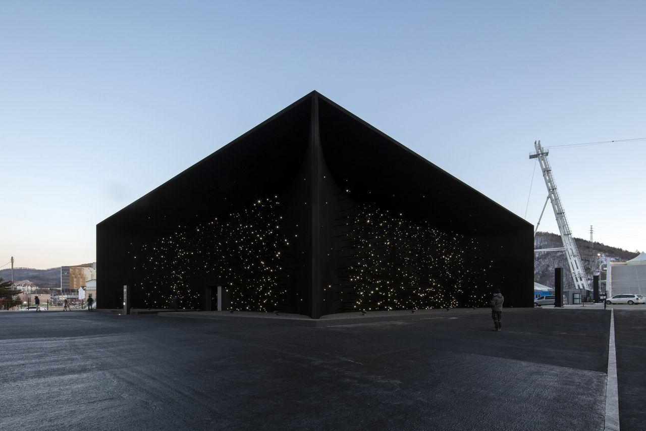 Vantablack används på en hel byggnad för första gången