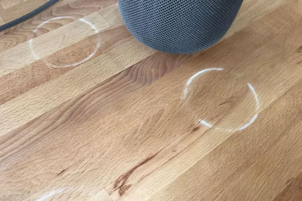 HomePod kan göra fula avtryck på bord