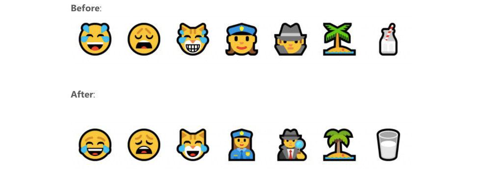 Microsoft fixar till emojisar i Windows 10