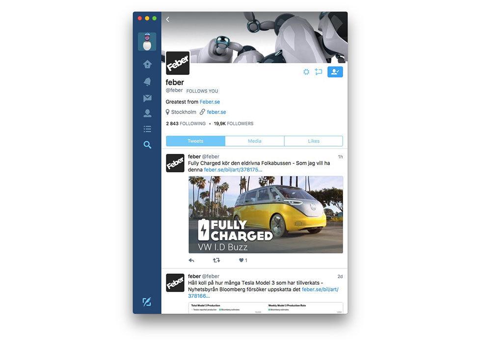 Twitter skrotar app till macOS