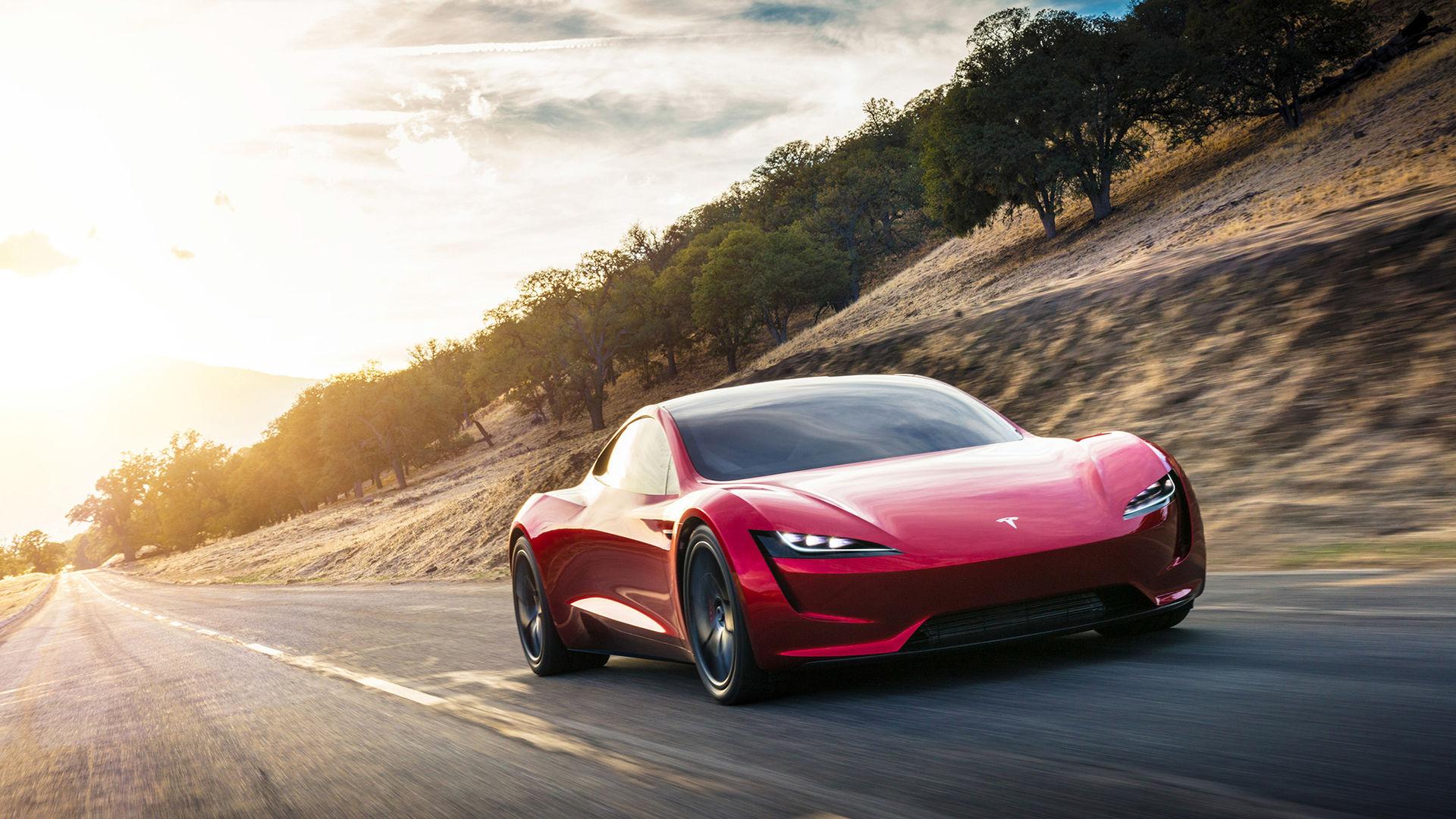Ny video visar när Tesla Roadster accelererar