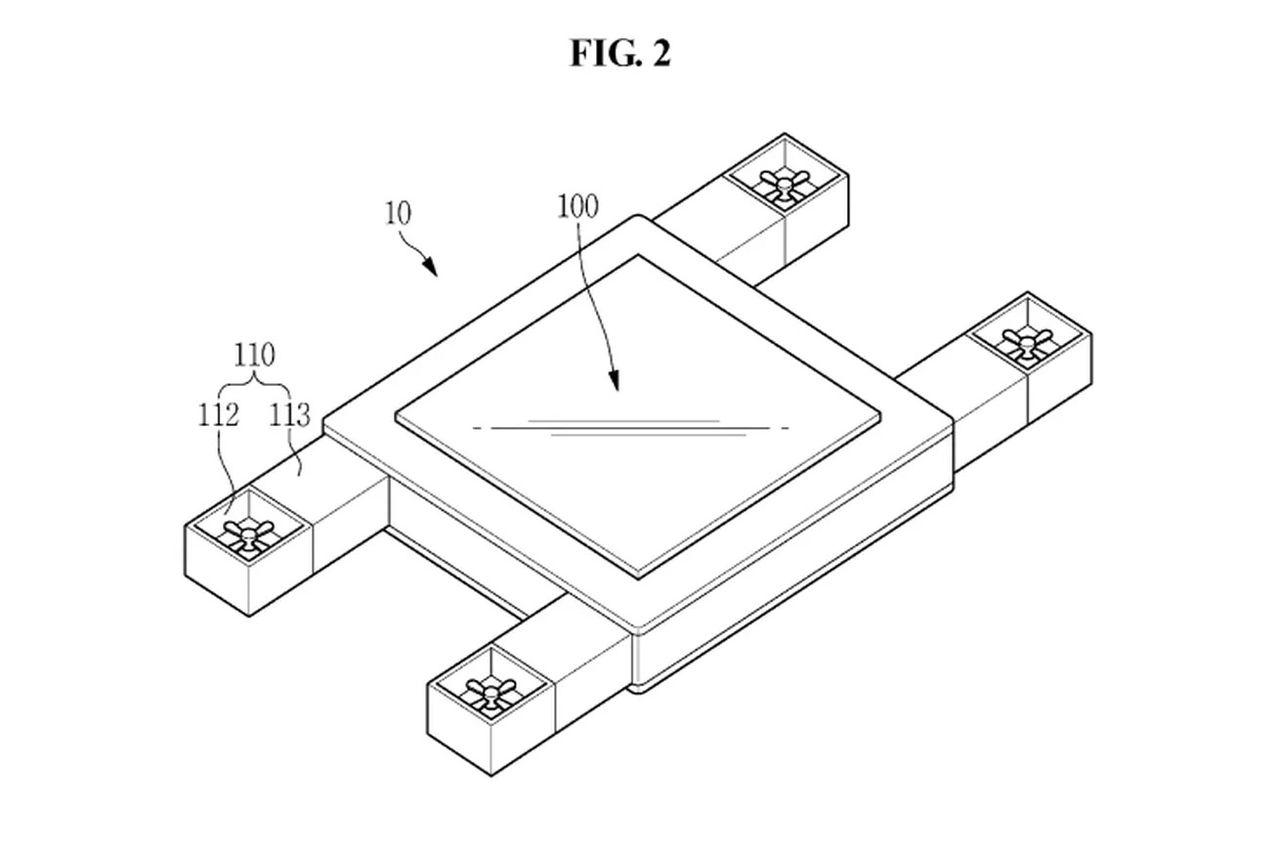 Samsung tar patent på en flygande skärm