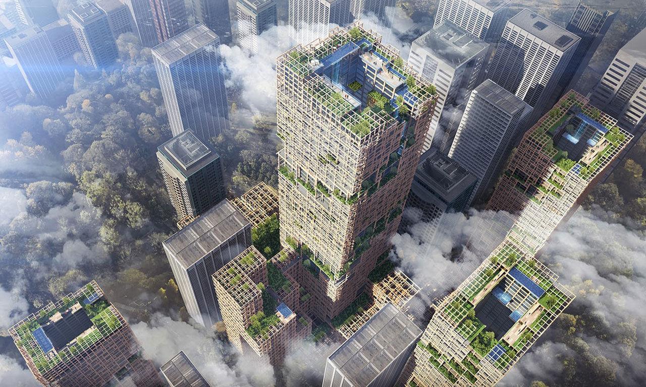 Tokyo har planer på ett 350 meter högt trähus