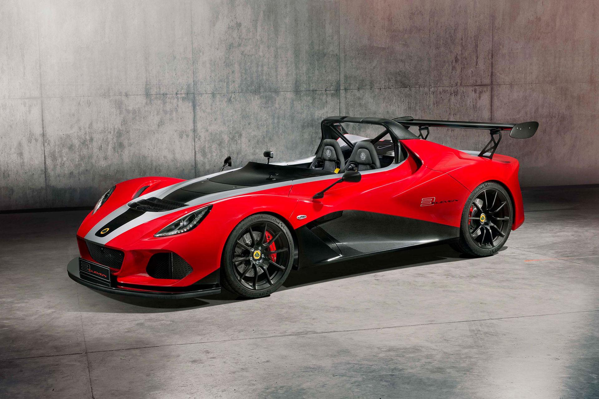 Lotus firar av modellen Lotus 3-Eleven