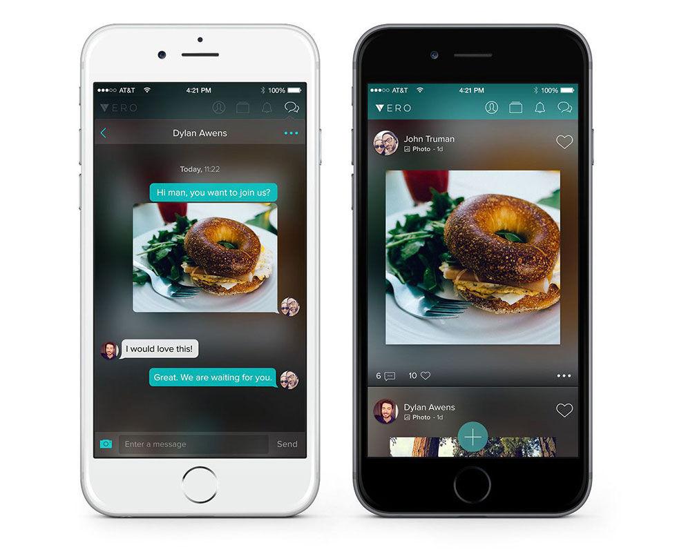 Vero är en ny sociala medie-app