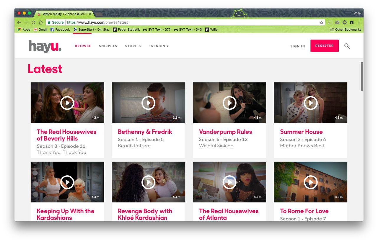 Streamingtjänsten Hayu lanseras i Sverige