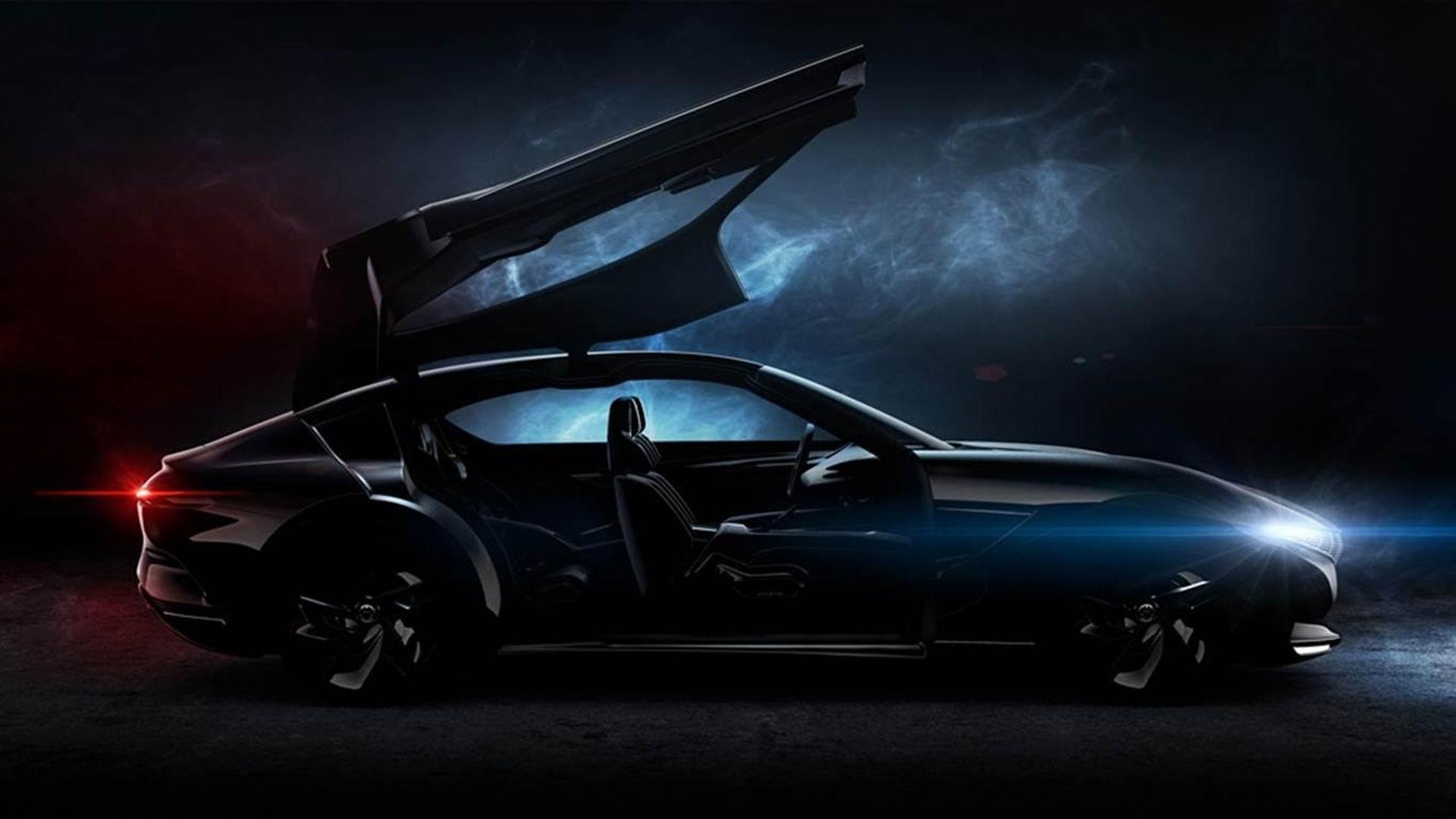 Pininfarinas nya konceptbil har gigantiska måsvingedörrar