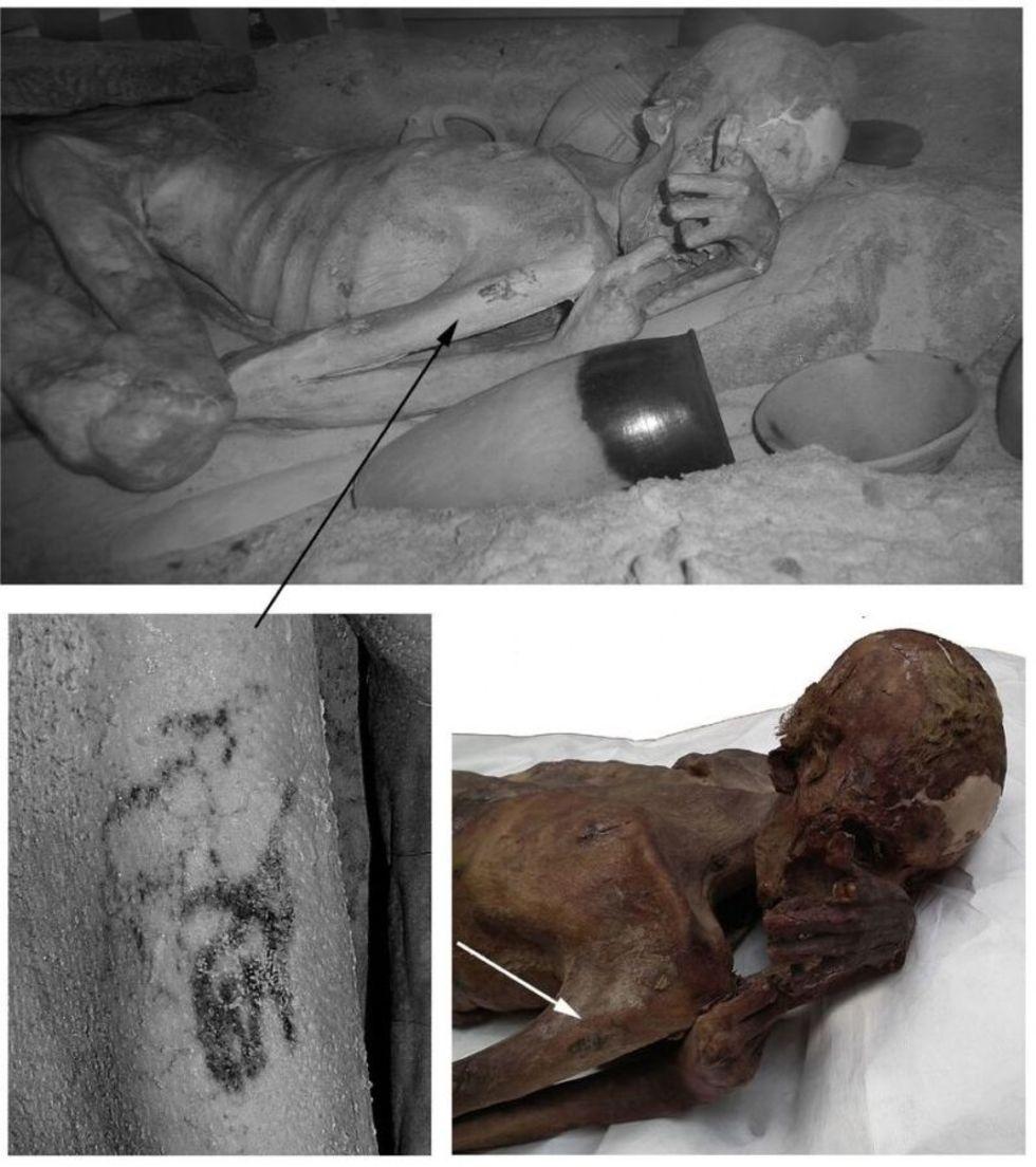 Tatueringar hittade på 5000 år gamla mumier