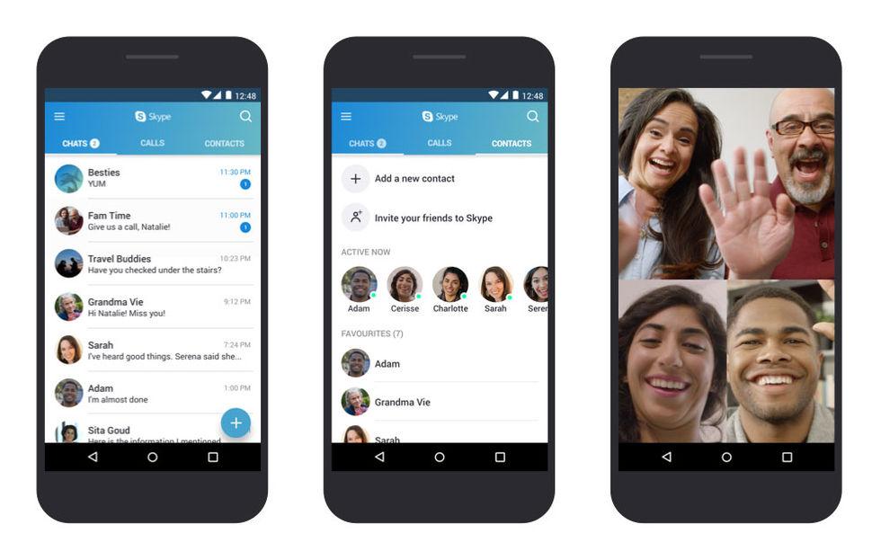 Microsoft optimerar Skype för Android 4 och 5
