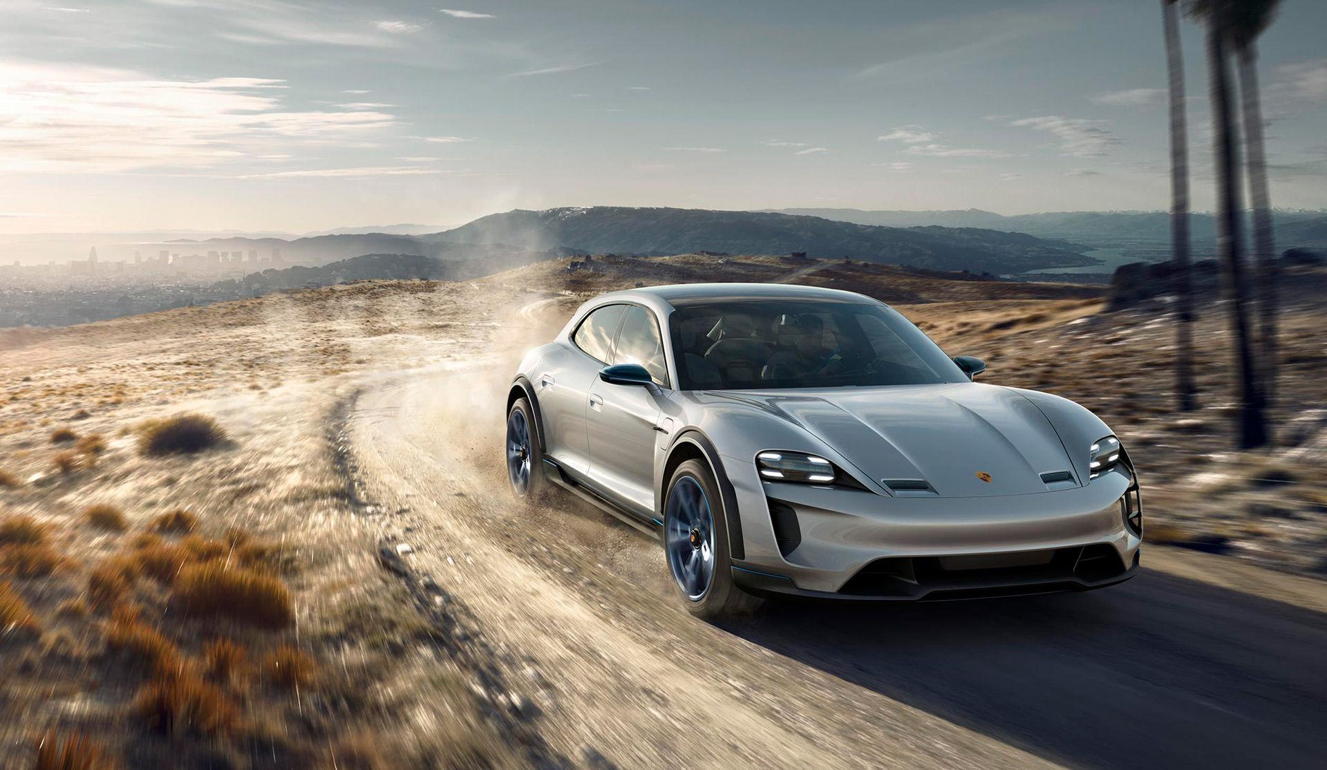 Porsche visar ruggad version av Mission E