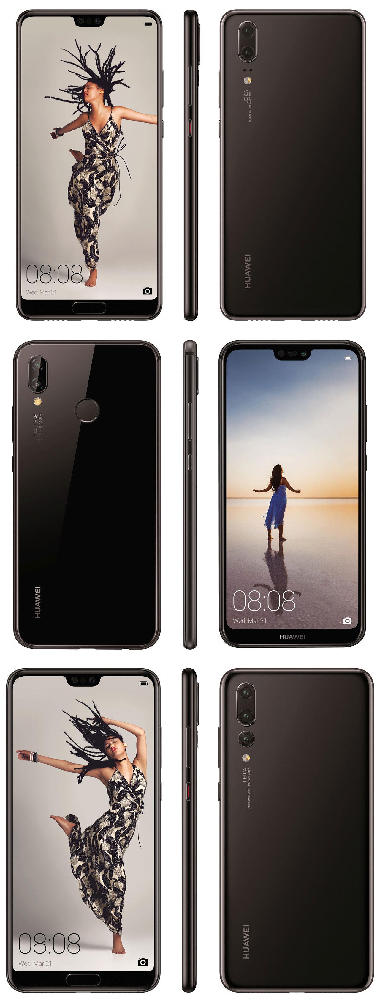 Huawei P20 Lite, P20 och P20 Pro läcker