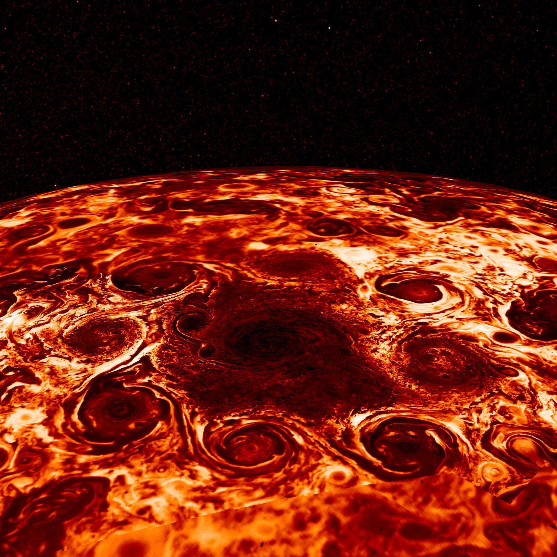 Balla cykloner på Jupiter