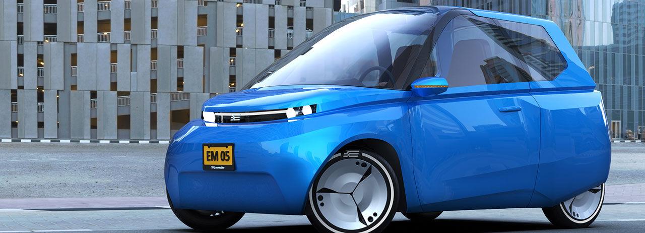 Hållbart och återvinningsbart elbilskoncept