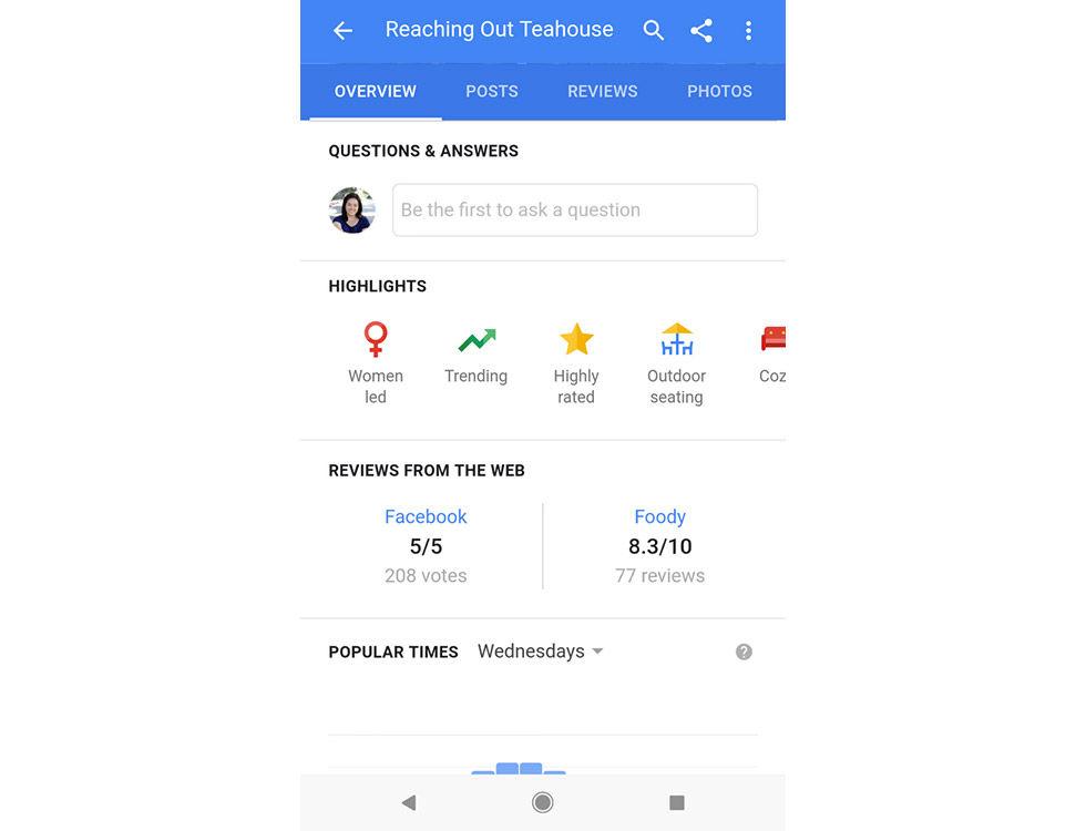 Google Maps uppmärksammar om företag drivs av kvinnor