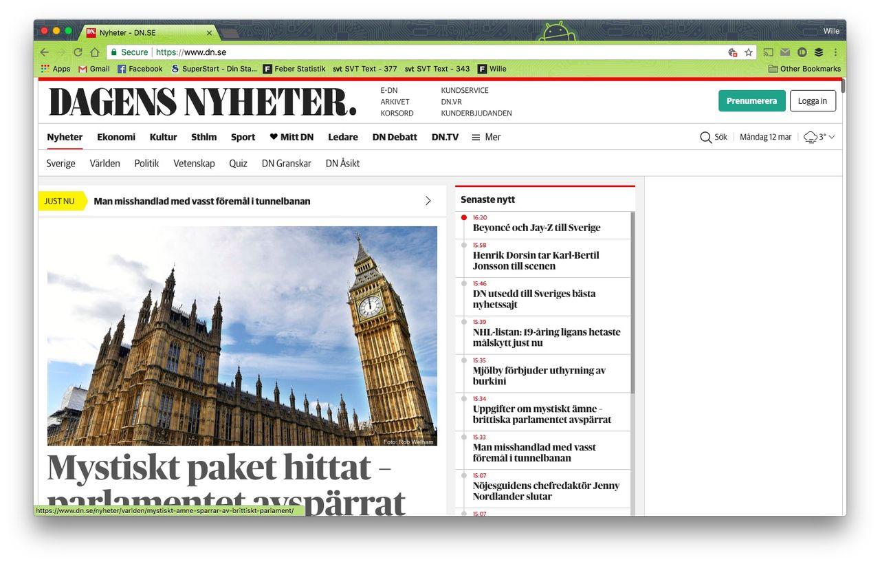 Dagens Nyheter är Sveriges bästa nyhetssajt