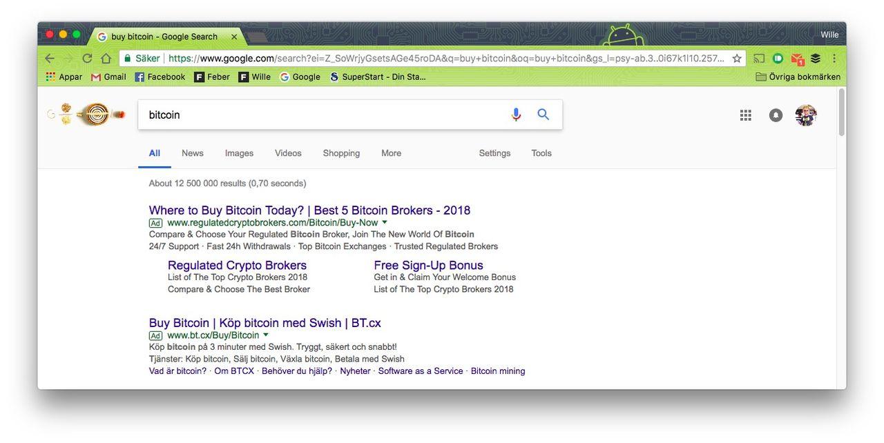 Även Google förbjuder annonser för kryptovalutor