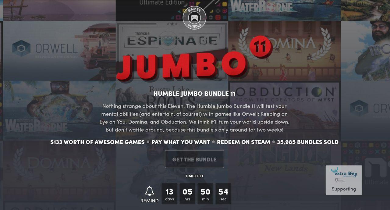 Fynda nya lir i Humble Jumbo Bundle 11
