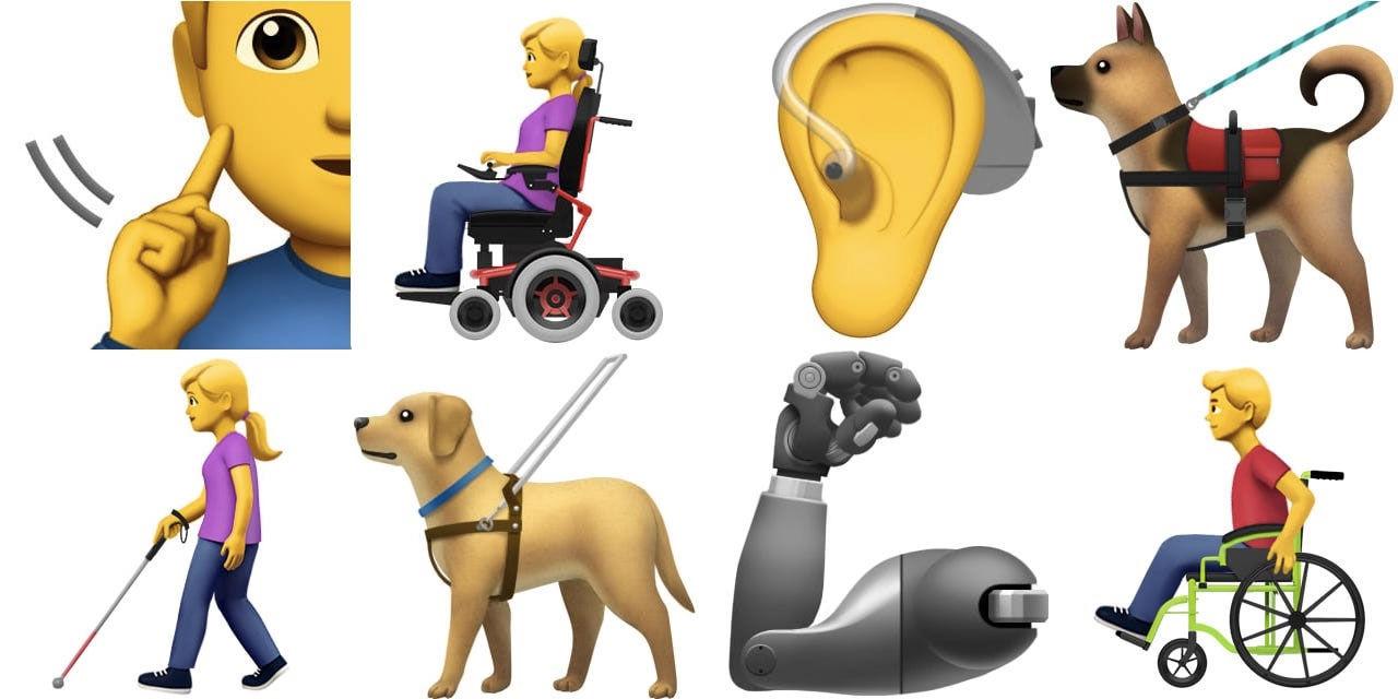 Apple vill ha emojis för funktionsnedsättningar