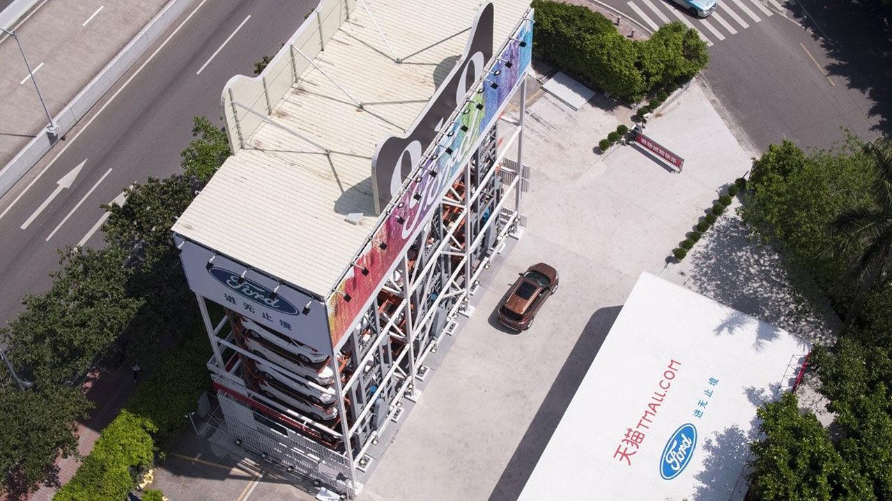 Ford hyr ut bilar via automat i Kina