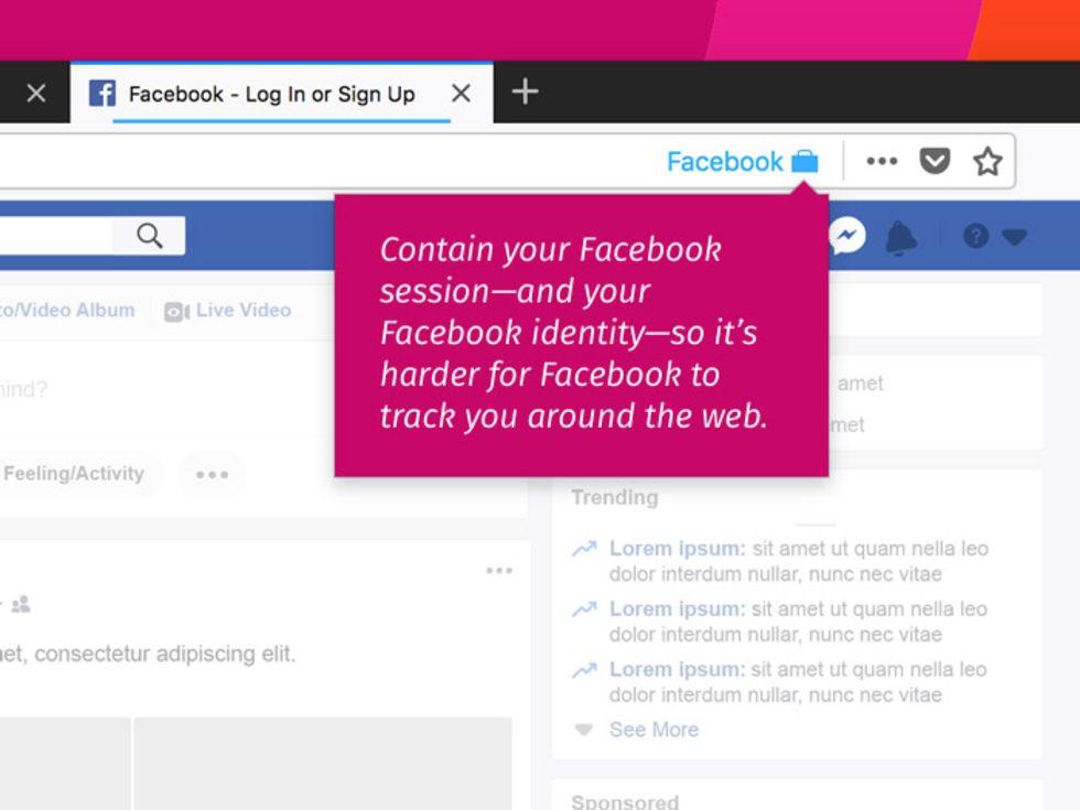 Firefox gör det svårare för Facebook att övervaka dig