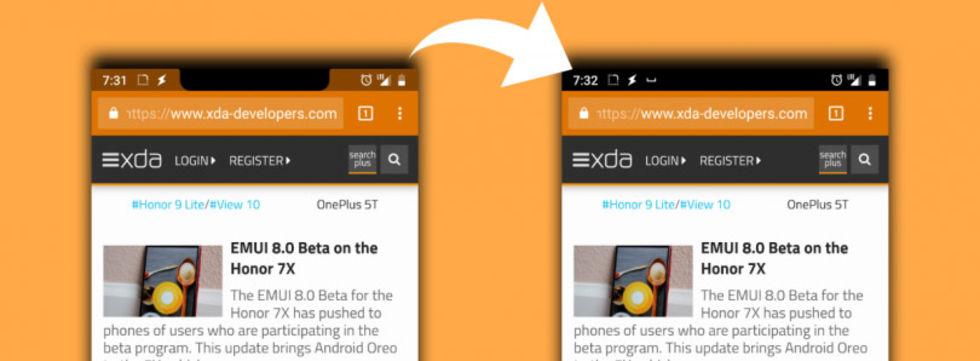 Nacho Notch tar bort läppen på Android-telefoner