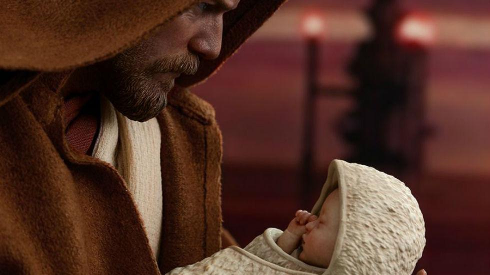 Luke Skywalker-bebis kommer som actionfigur
