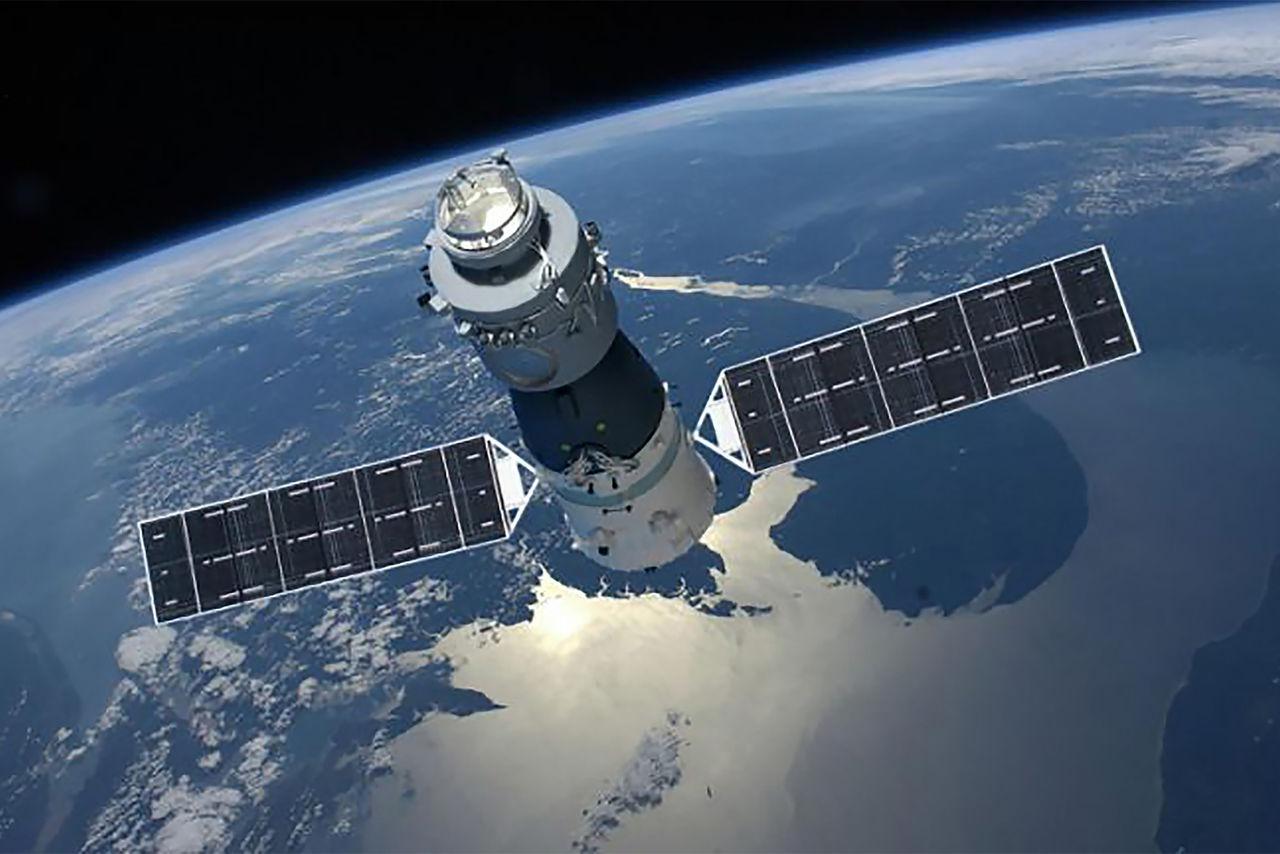 Kinas första rymdstation störtade i påsk