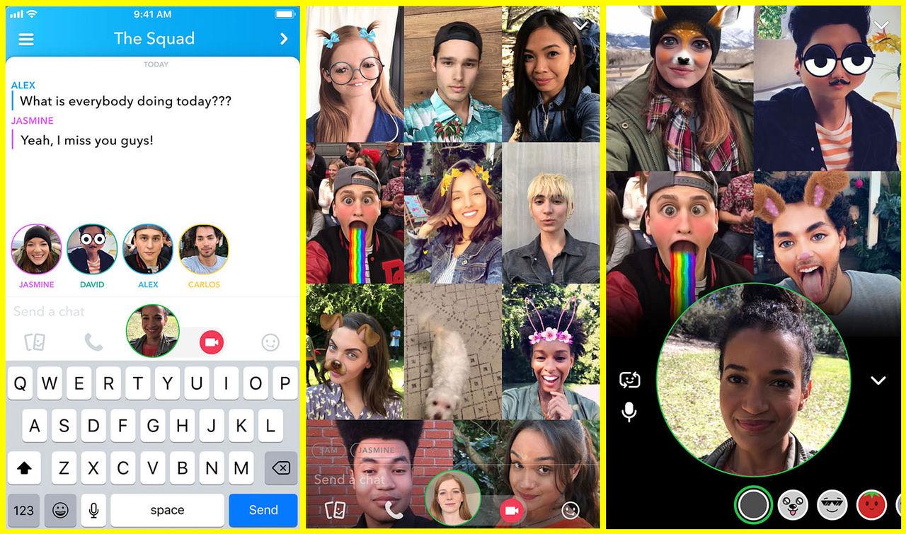 Snapchat får samtalsfunktioner