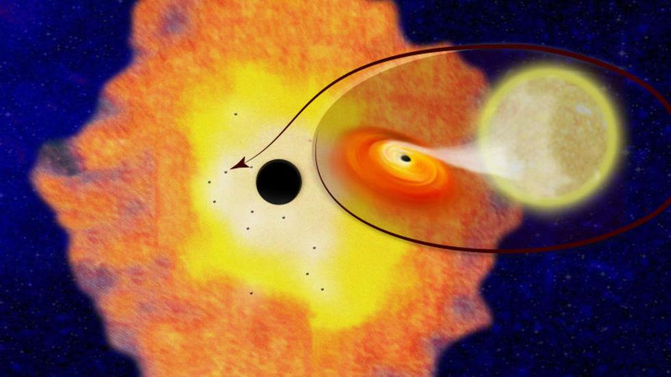 Flera svarta hål hittade i Vintergatans mitt