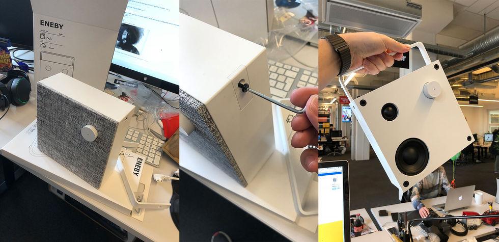 Det är lite roligt att IKEA skickar med en klassisk sexkantsnyckel men i  liten version och att man själv får skruva. 256a05d8ff413