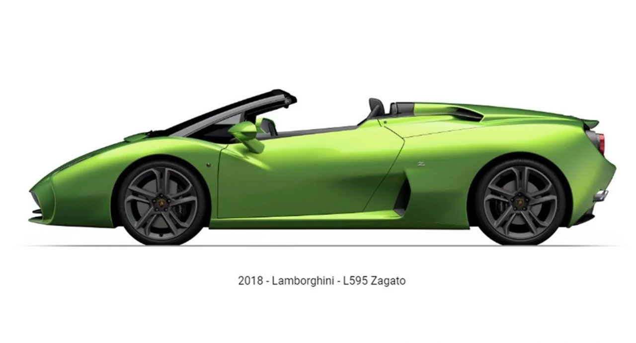 Zagatos Lamborghini-bygge som cabriolet