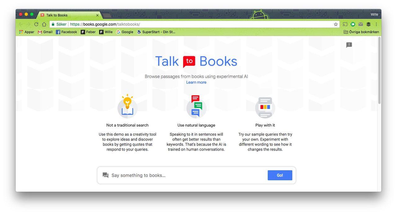 Talk to Books ger dig svar från böcker