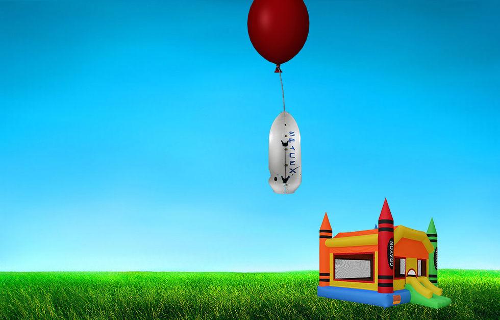 SpaceX vill landa raketkåpor med partyballonger