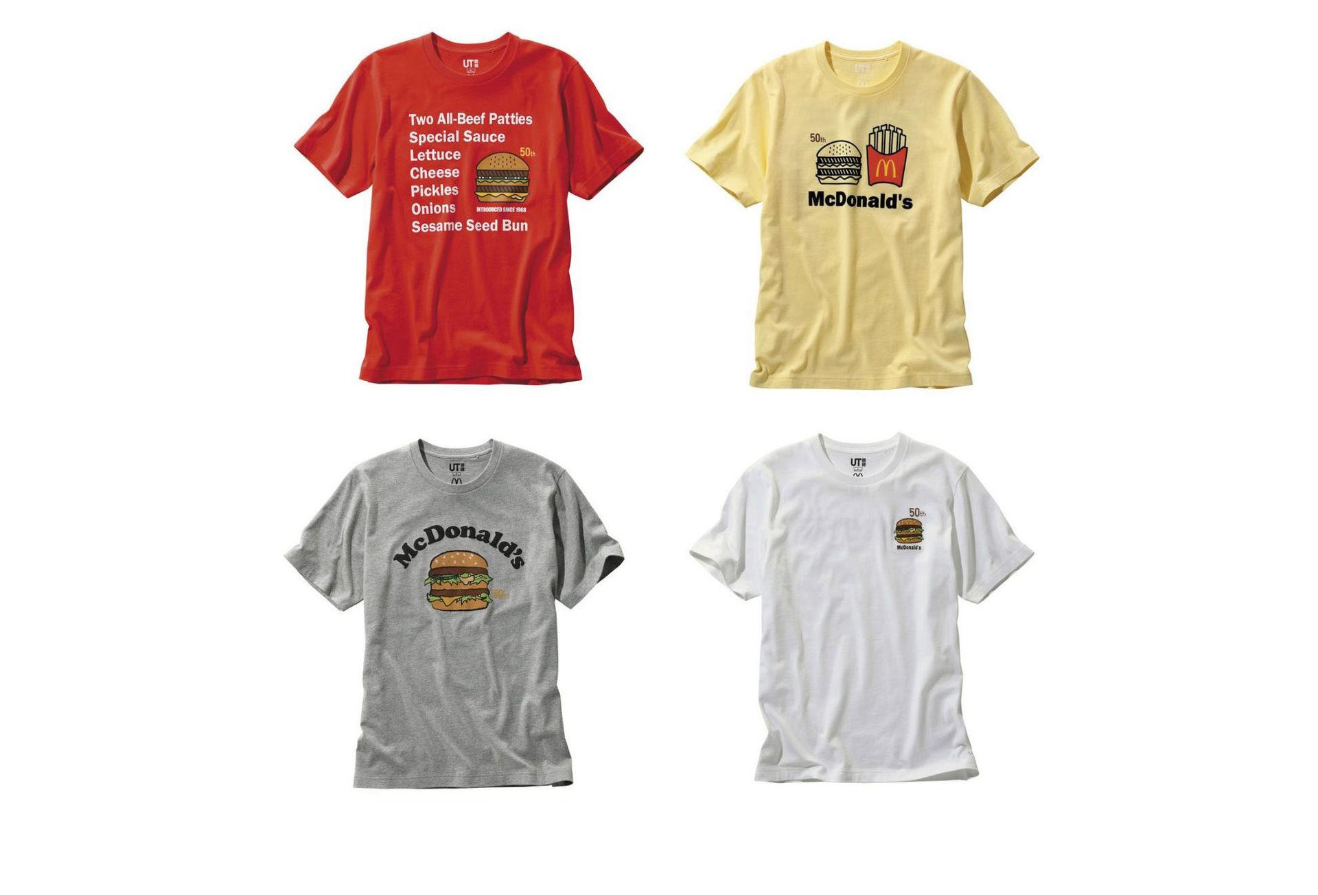 McDonald's-tishor från Uniqlo