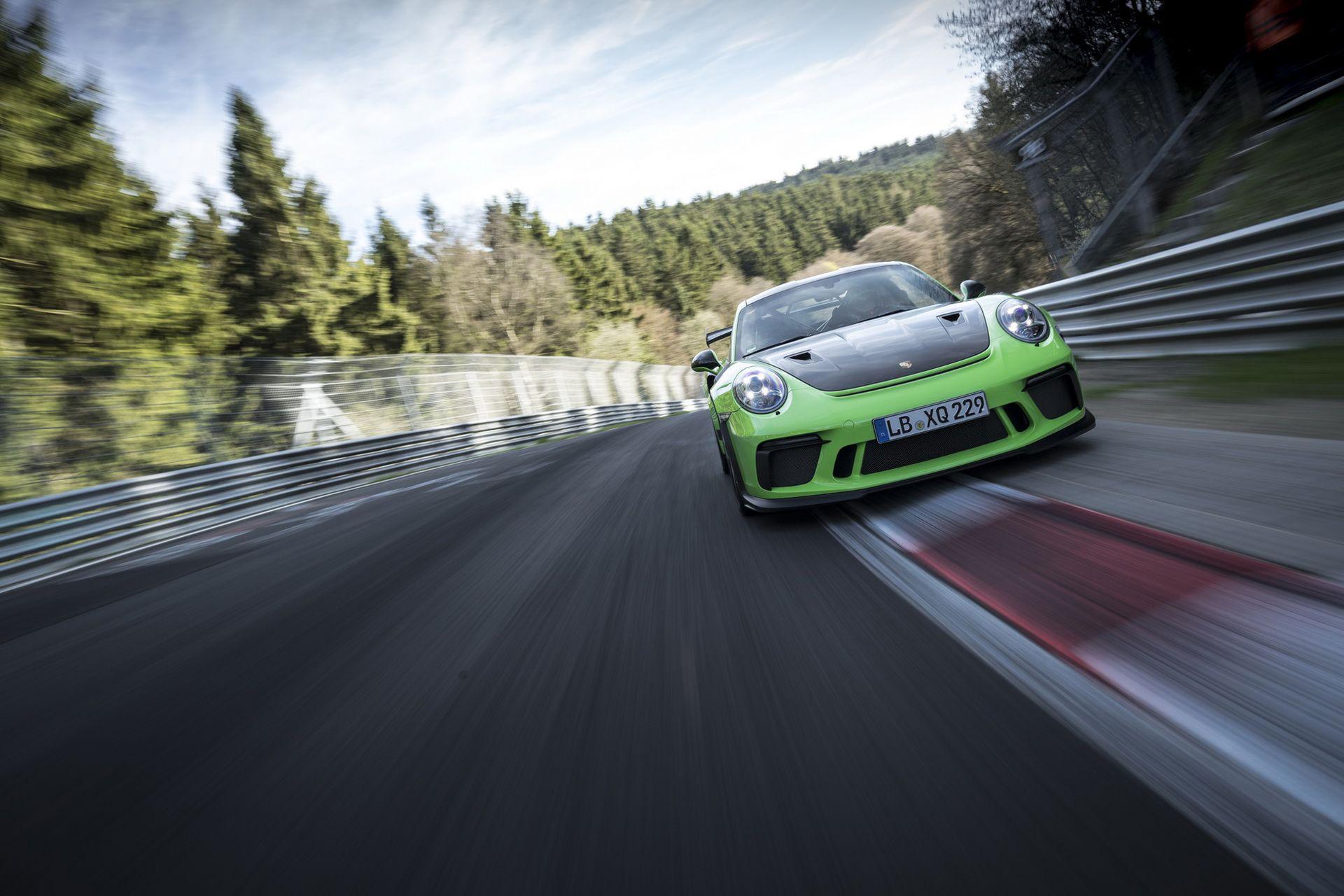 Nya Porsche 911 GT3 RS har kört på Ringen