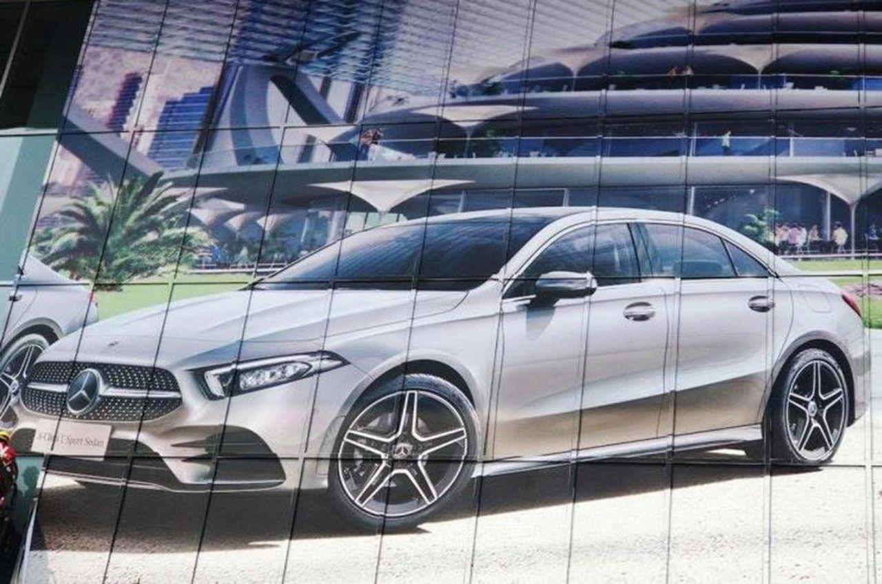 Mercedes A-Klass sedan läcker ut