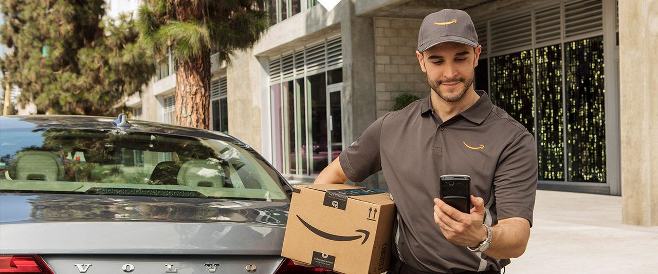 Amazon börjar leverera till bagageluckan
