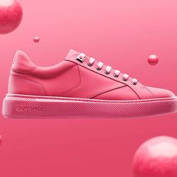 De här skorna är tillverkade av tuggummi. Bör dock ej tuggas