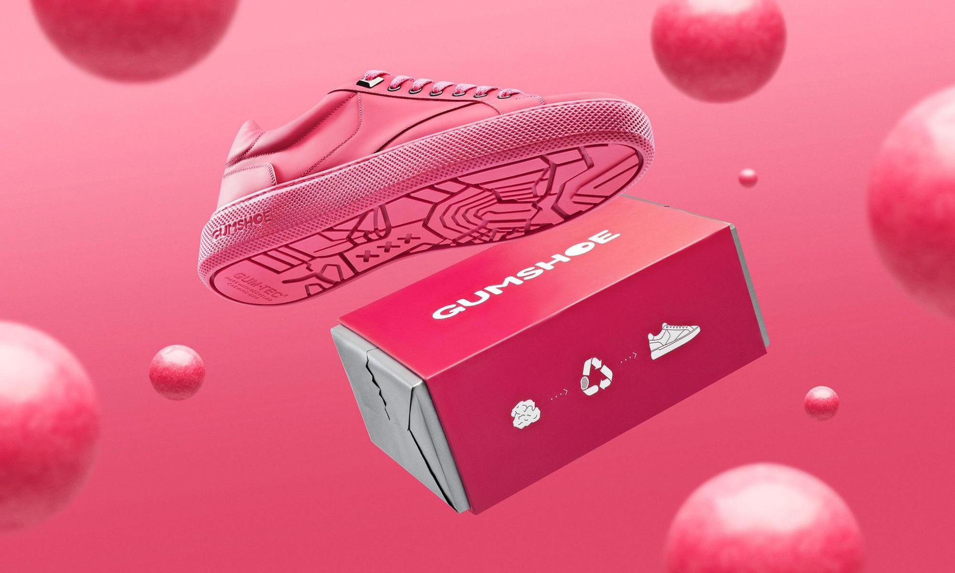 De här skorna är tillverkade av tuggummi