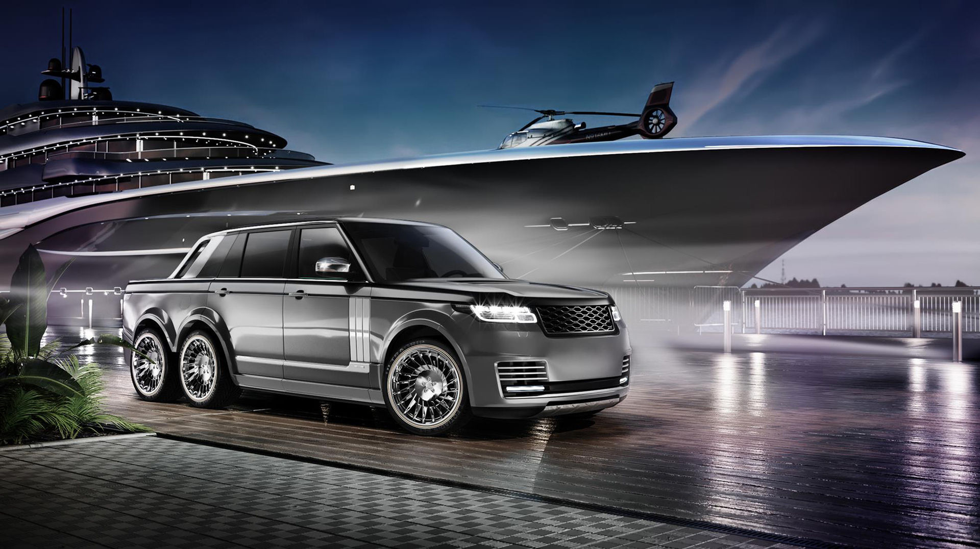 Äntligen en ny Range Rover med sex hjul