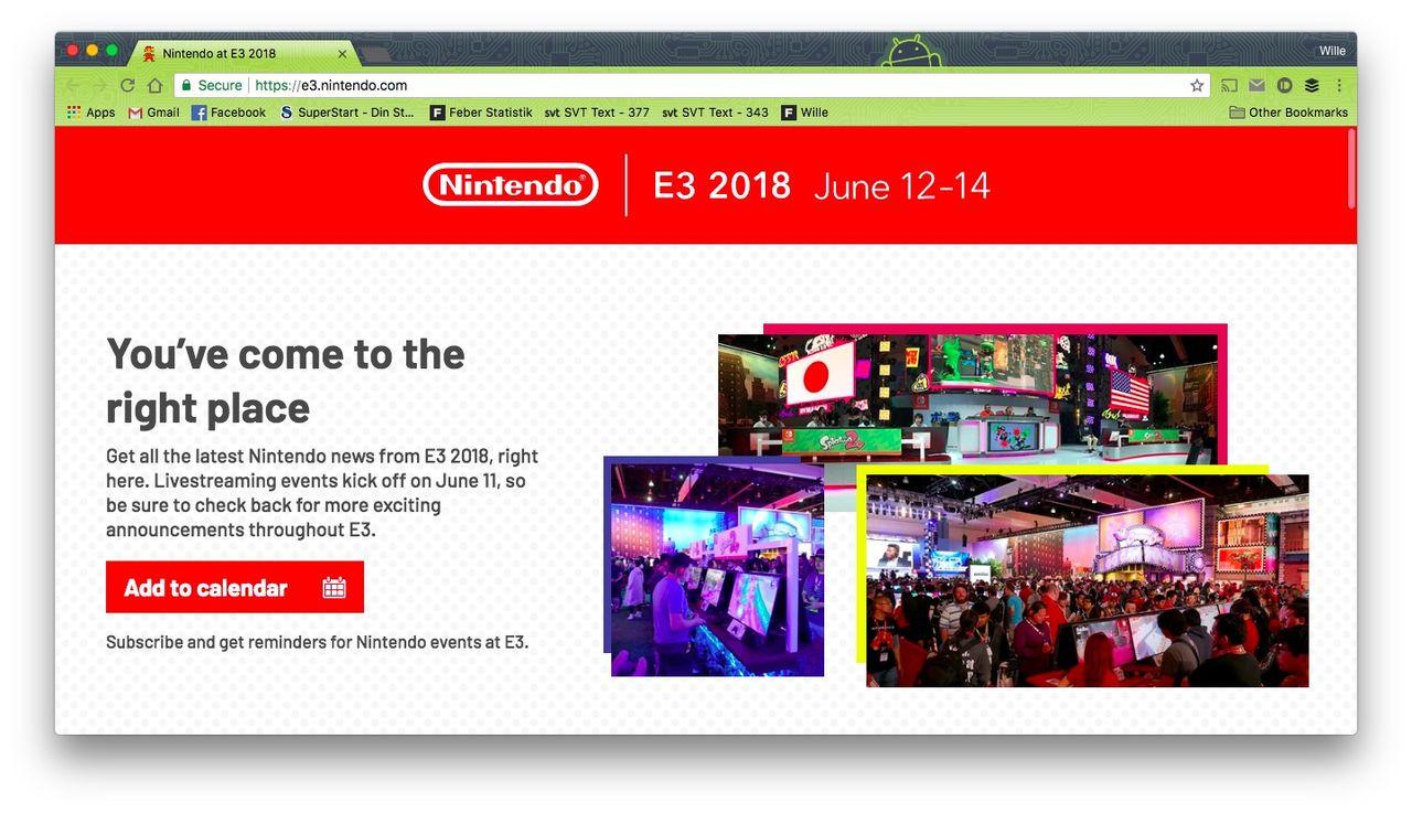 Nintendo snackar lite om sina E3-planer