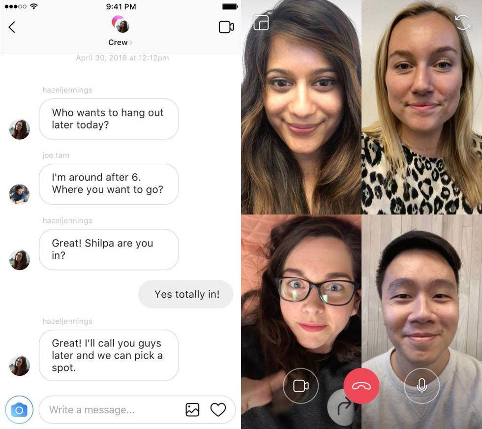 Både Instagram och WhatsApp får gruppvideochat