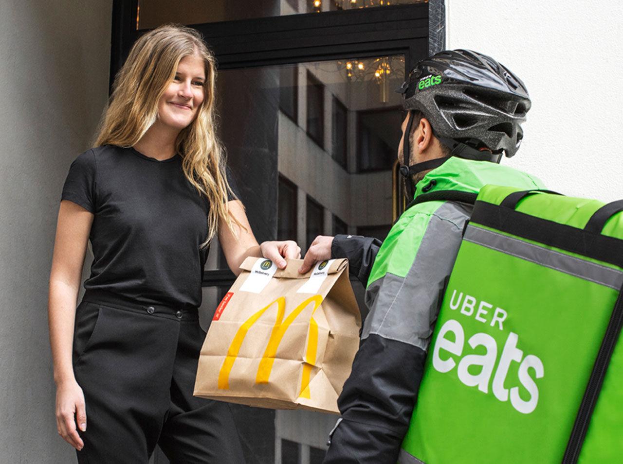 Uber Eats börjar köra ut mat från McDonald's