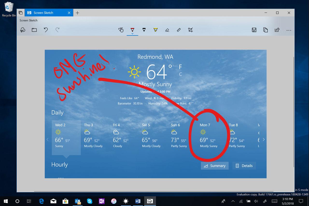 Microsoft petar in bättre skärmdumpsverktyg i Windows 10