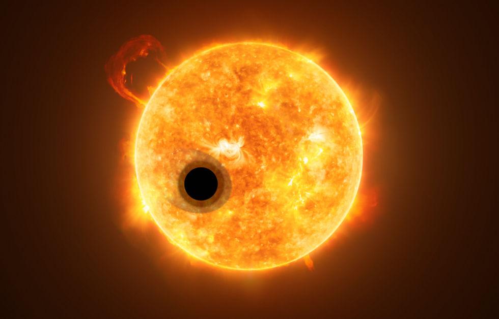Hubble hittar en planet med helium på