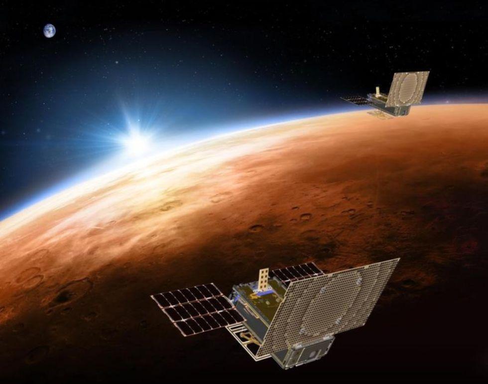 Nu är två CubeSat-satelliter på väg till Mars