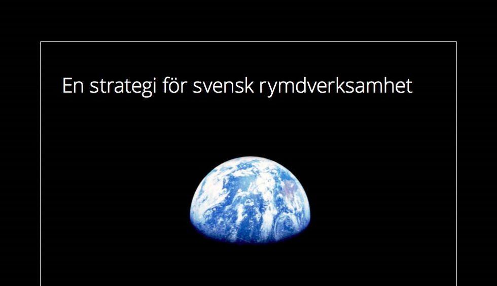 Sverige har fått en rymdstrategi