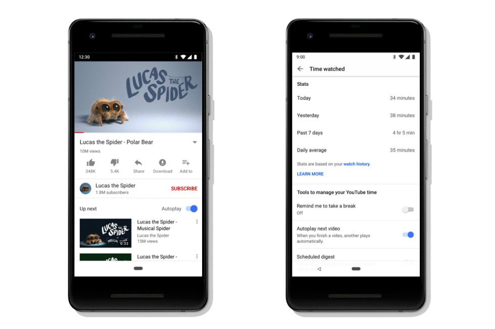 Google inför skärmtidshantering på Android och YouTube
