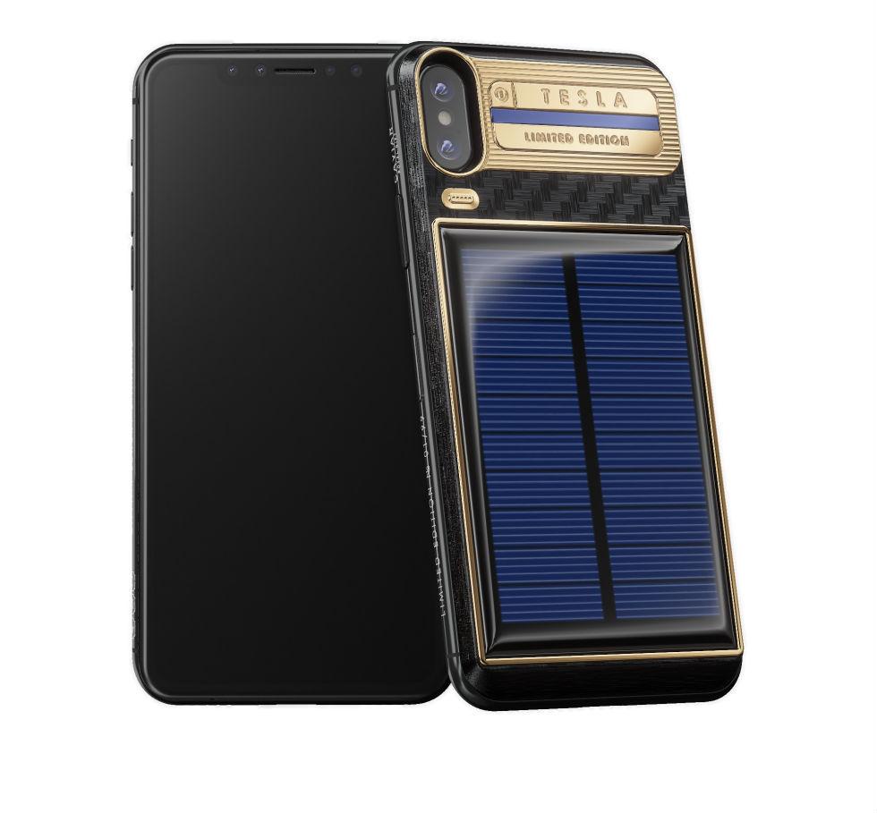 Nu kan man köpa en iPhone X med solcellsladdning