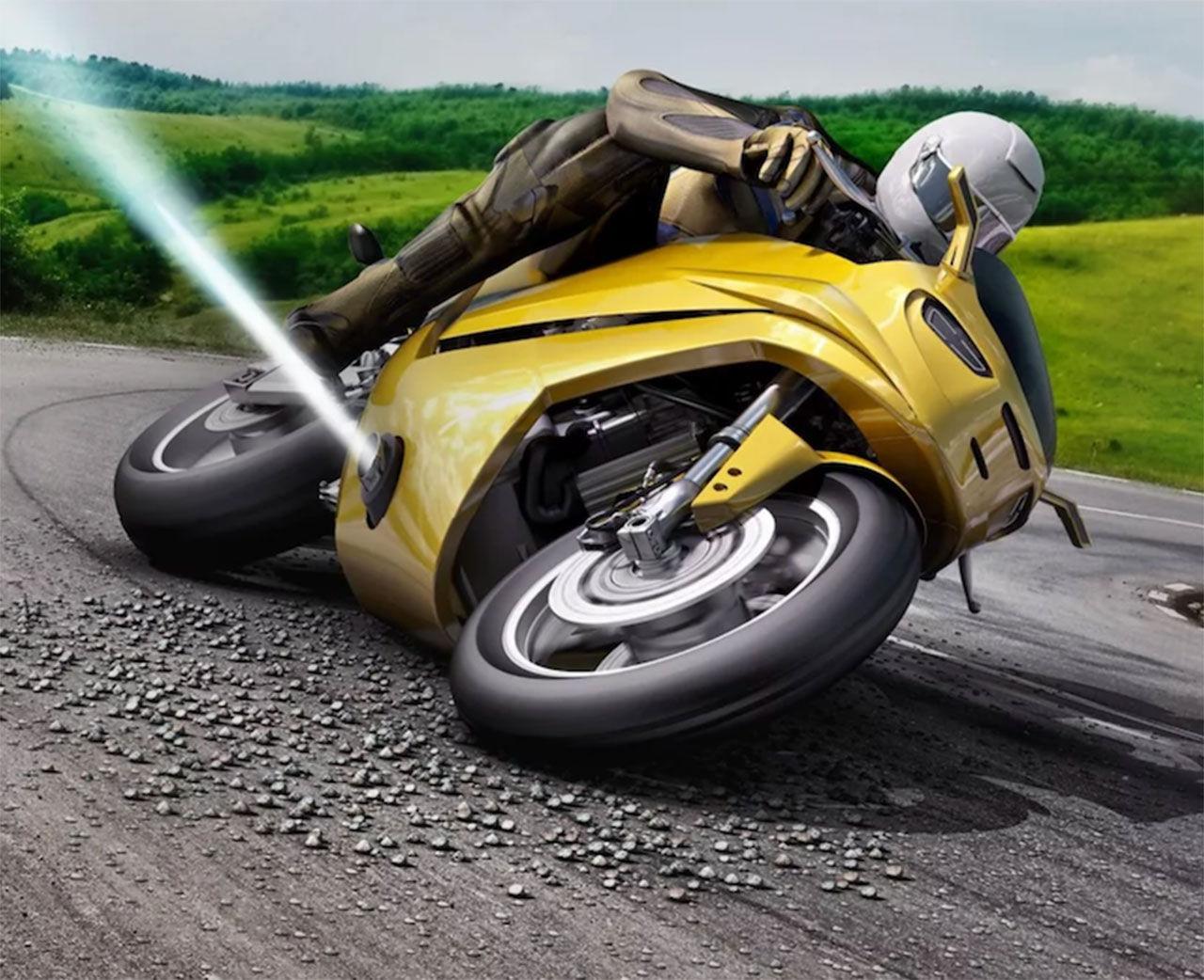 Tryckluft ska förhindra motorcykelvurpor